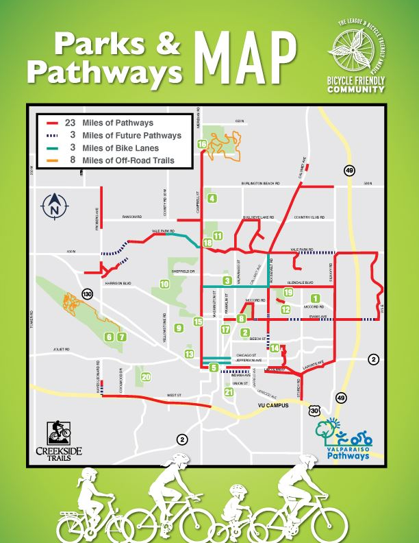 Parks Pathways Map 2020