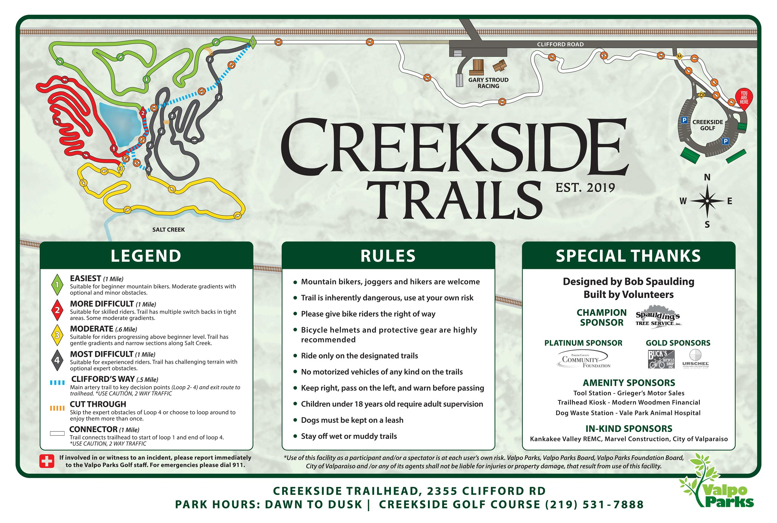 Creekside Trails Map